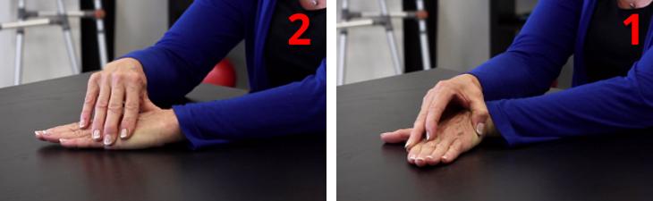 ריפוי בעיסוק לחיזוק ידיים חלשות: הדגמת תרגיל כיפוף שורש כף היד לצדדים