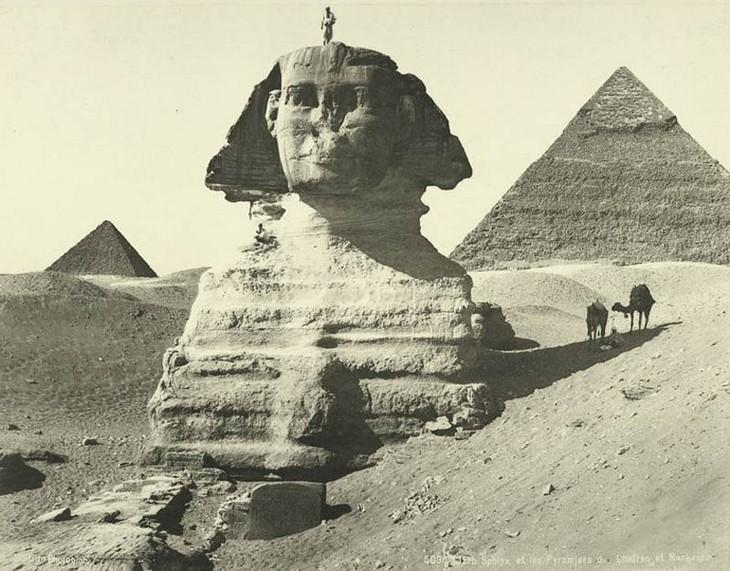 תמונות היסטוריות: הספינקס במצרים, 1875.