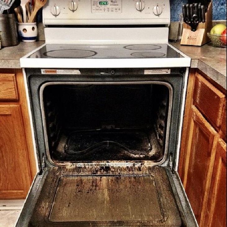 9 טעויות נפוצות: תנור משולב עם תא מלוכלך ומלא שמן