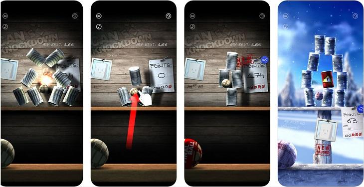 משחקים לטלפון הנייד: צילומי מסך של המשחק Can Knockdown