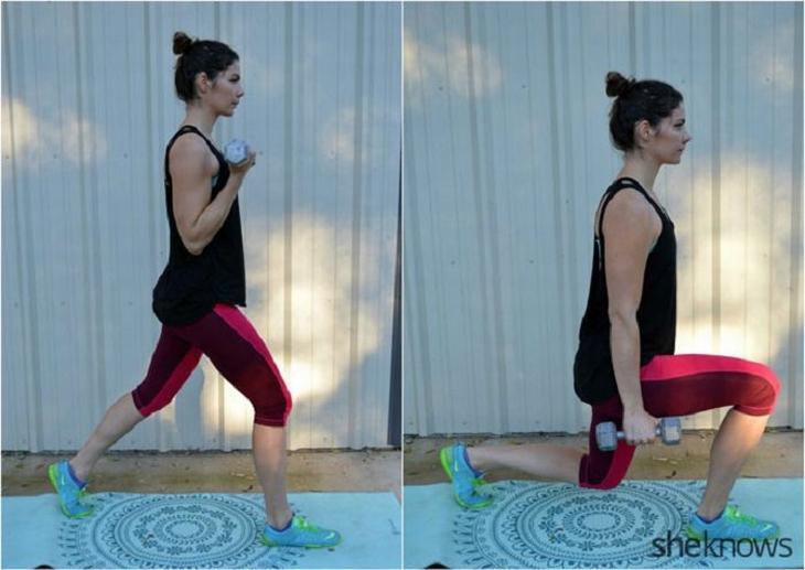 תרגילי כושר עם משקולות לחיזוק וחיטוב הגוף: כריעה עם משקולות