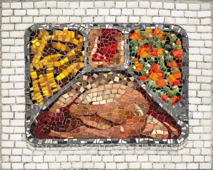 יצירות פסיפס מודרניות: ארוחה בחמגשית
