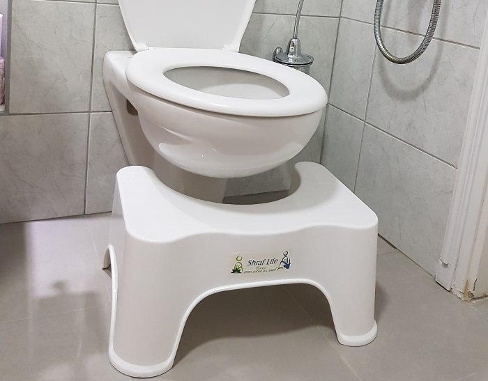 שרפרף הגבה לאסלה: חדר שירותים
