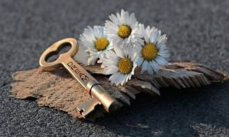 מבחן אישיות: צרור פרחים ליד מפתח