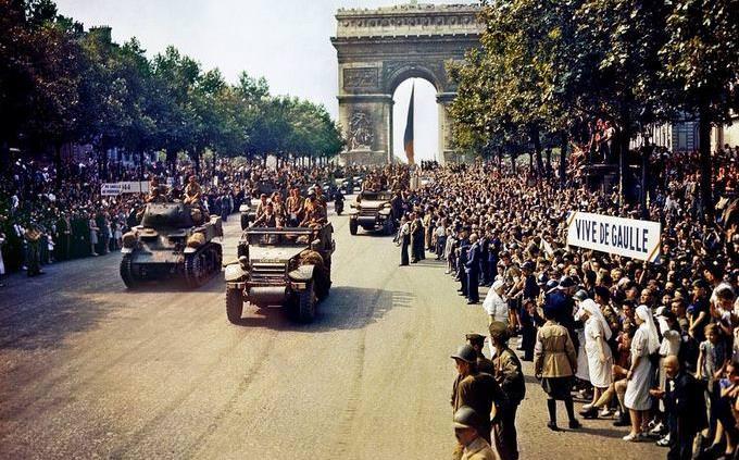 מבחן היסטוריה: שער הניצחון בפריז, בסיום מלחמת העולם השנייה
