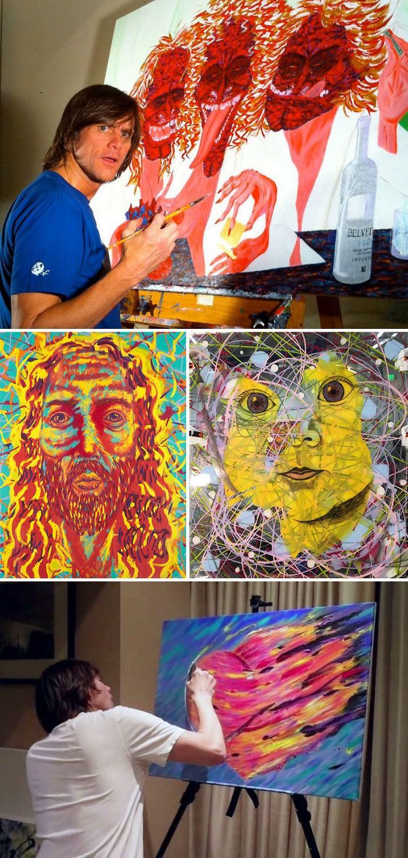 אנשים מפורסמים שהם גם ציירים מוכשרים: ציורים של ג'ים קארי