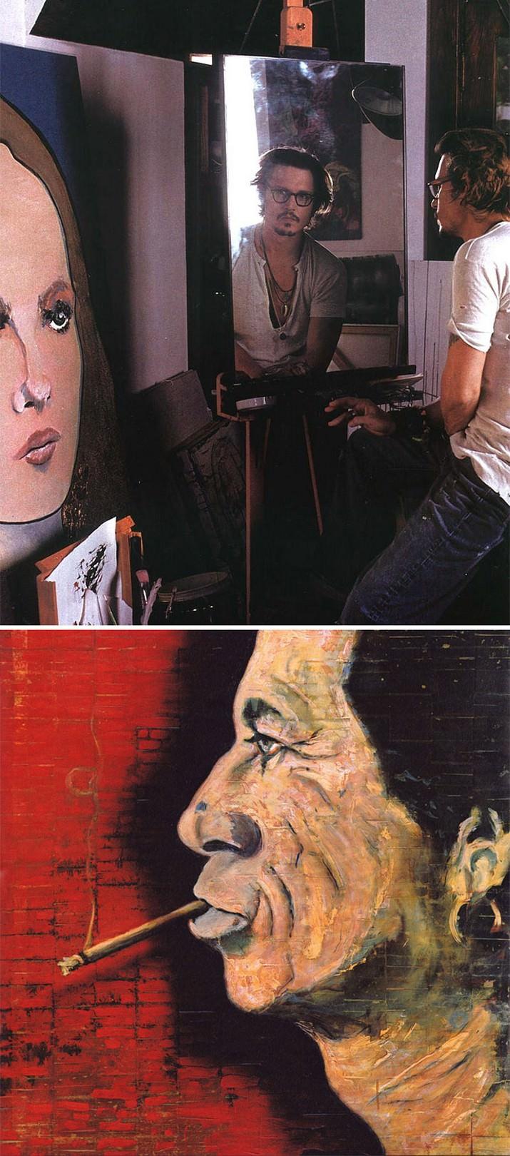 אנשים מפורסמים שהם גם ציירים מוכשרים: ציורים של ג'וני דפ