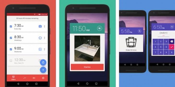 אפליקציות שעון מעורר: צילומי מסך של אפליקציית Alarmy