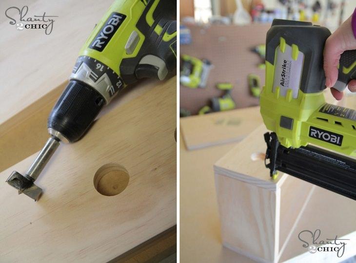 יצירות DIY:  שימוש במקדחה ואקדח מסמרים ביצירה