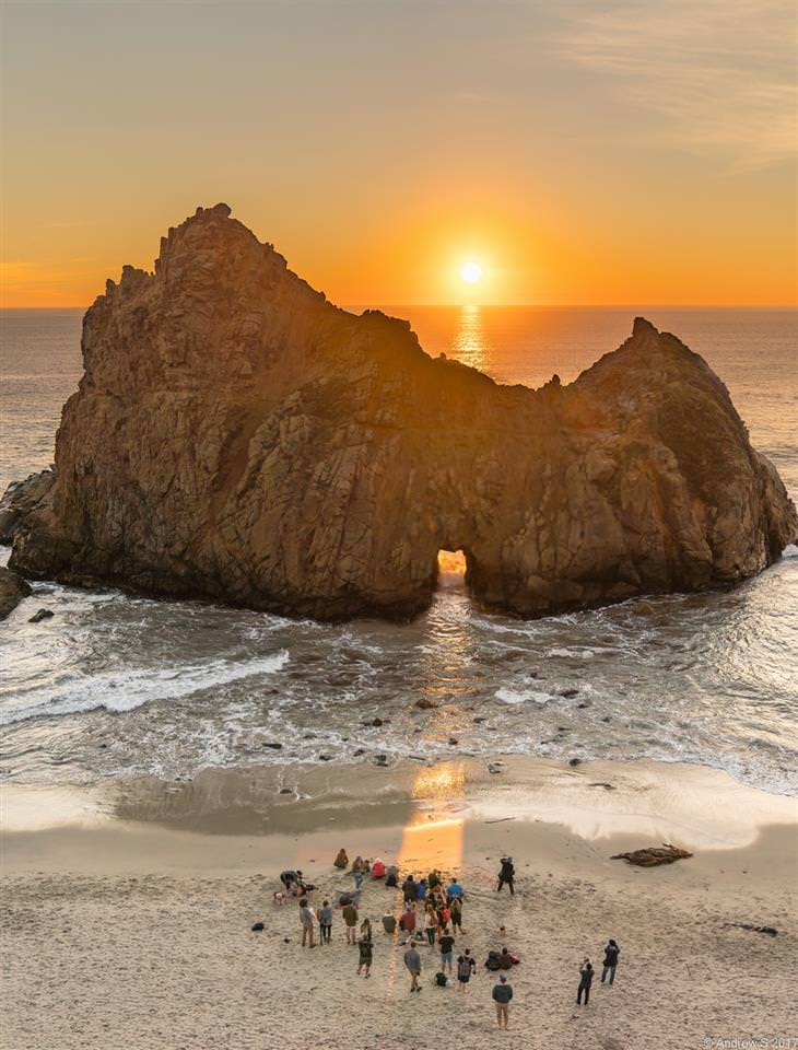 תמונות יפות של קליפורניה: חוף פייפר, אזור ביג סר