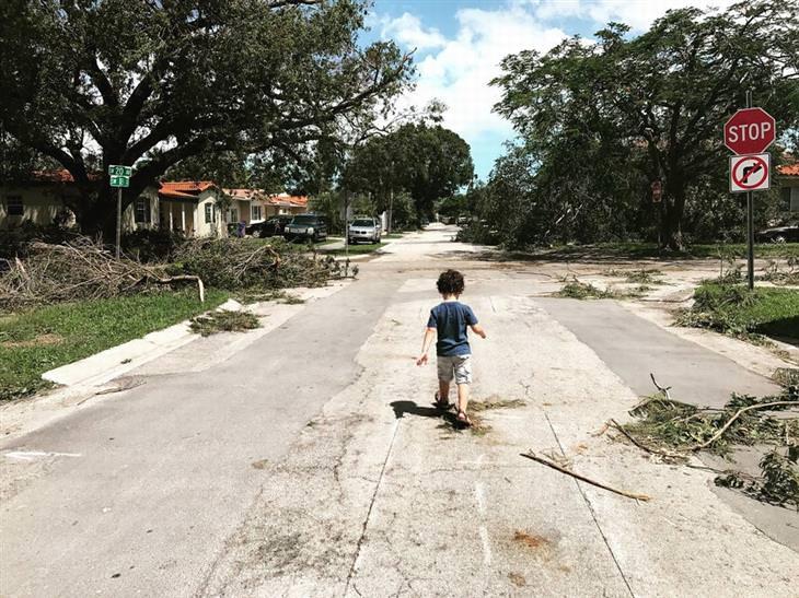 תמונות מדהימות מתחרות צילום של הסמיתסוניאן: ילד מתהלך באמצע רחוב שנחרב על ידי הוריקן