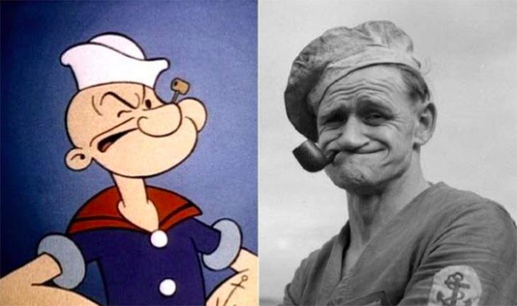 דמויות בדיוניות שמבוססות על אנשים אמיתיים: פופאי ופרנק פייגל
