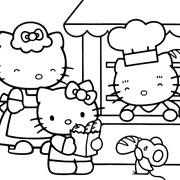 דפי צביעה לילדים: הלו קיטי