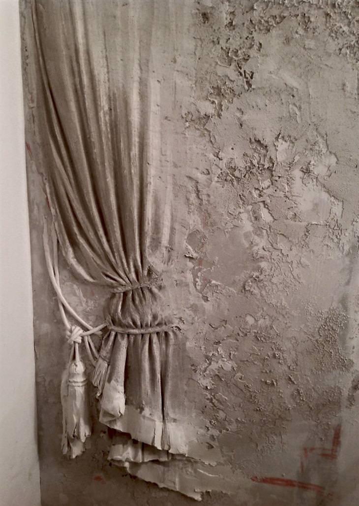 גוגה טנדאשווילי: תבליט של וילון מוסט וקשור