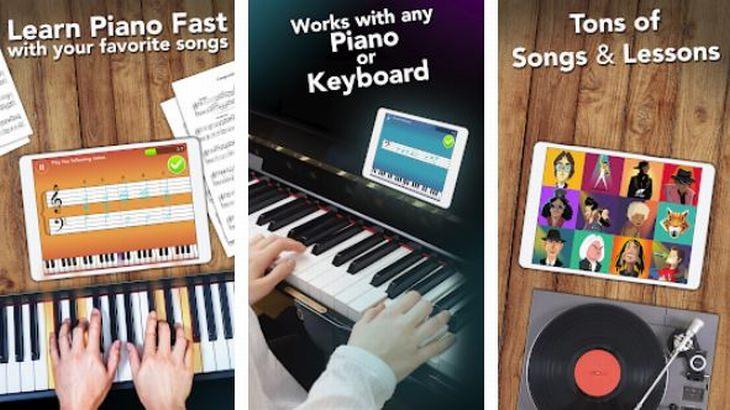 אפליקציות חינוכיות לילדים: תמונות מסך של אפליקציית Simple Piano