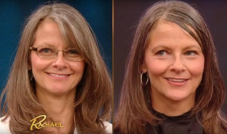 הכנת צבעי שיער טבעיים: אישה לפני ואחרי צביעת שיער