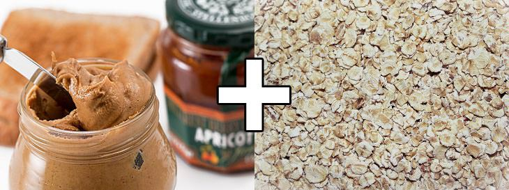 שילובי מזון להרזיה: שיבולת שועל פלוס חמאת בוטנים