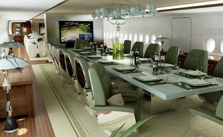 מטוסי יוקרה:  פנים מטוסו של סולטאן ברוניי