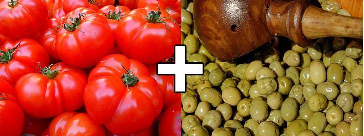 שילובי מזון להרזיה: זיתים פלוס עגבניות