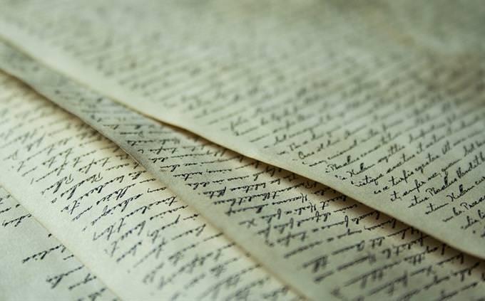 מבחן שפה: דפים עם טקסטים
