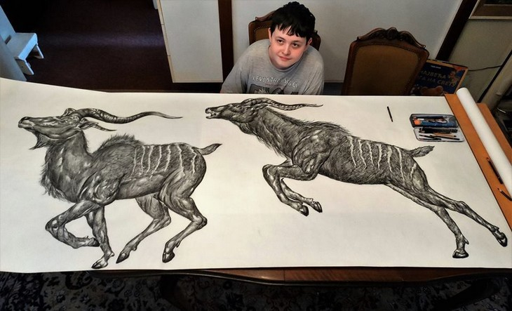 דושאן קרטוליצה: מציג את הציורים שלו