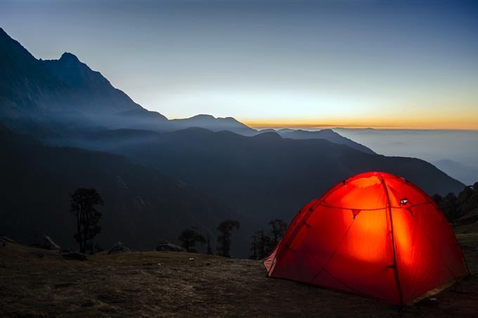 בחן את עצמך: אוהל בטבע הררי