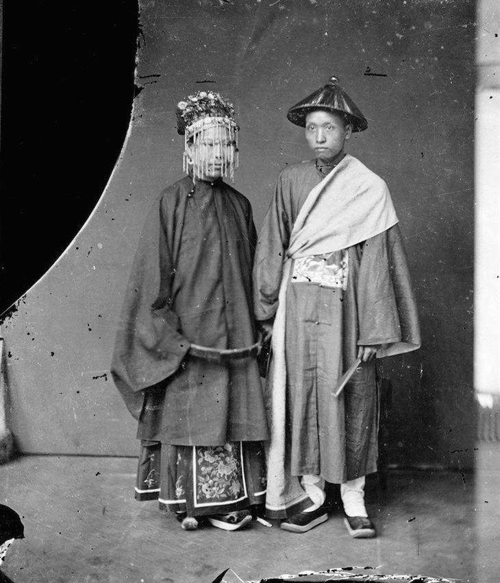 תמונות היסטוריות: חתן וכלה סיניים