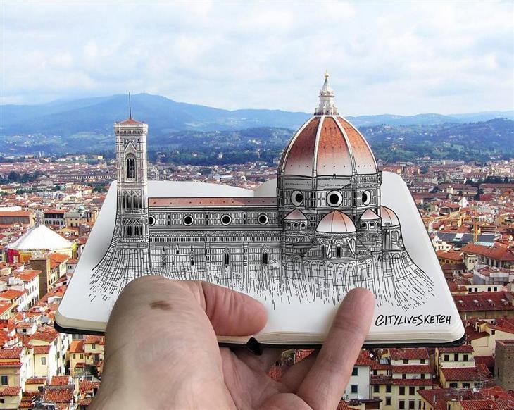 ציורי תלת ממד: קתדרלת סנטה מריה דל פיורה שבפירנצה