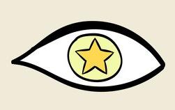 עין עם כוכב צהוב