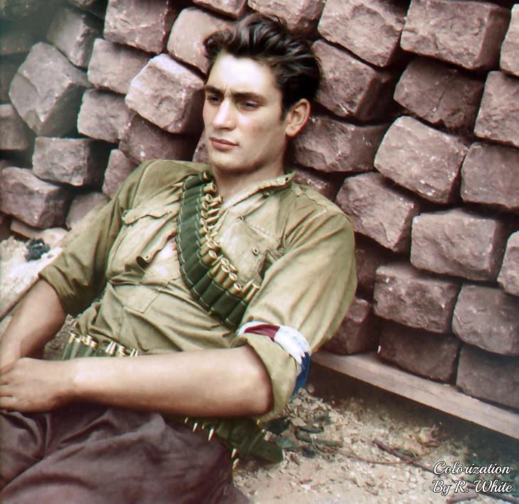 תמונות היסטוריות:חייל במחתרת הצרפתית משנת 1944