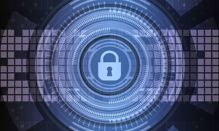 איך לזהות וירוסים במחשב ולהימנע מהם: סימן מנעול על איור דיגיטלי