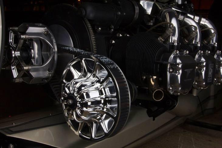 אופנוע TMC Dumont: המנוע