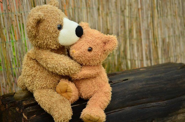 פתרון סכסוכים: שני בובות דובי מחובקות