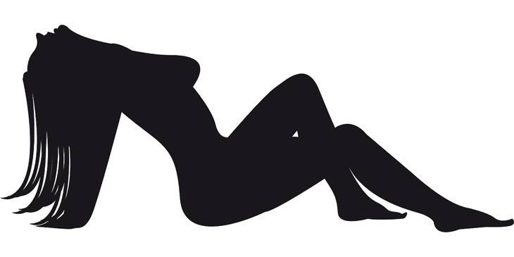 בדיחה שמלת אהבה: צללית של אישה