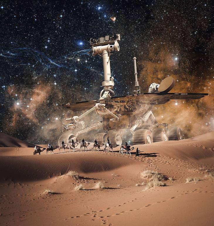 תמונות של האמן ג'סטין פטרס: ספארי מאדים