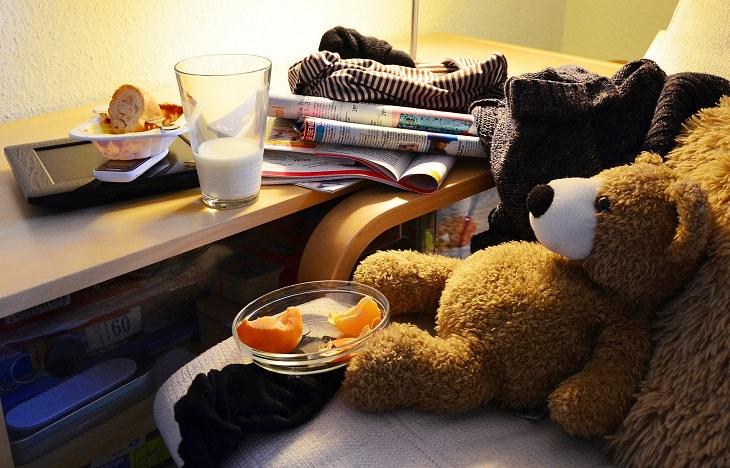 סימנים לחרדת נעורים:חדר ילדים מבולגן