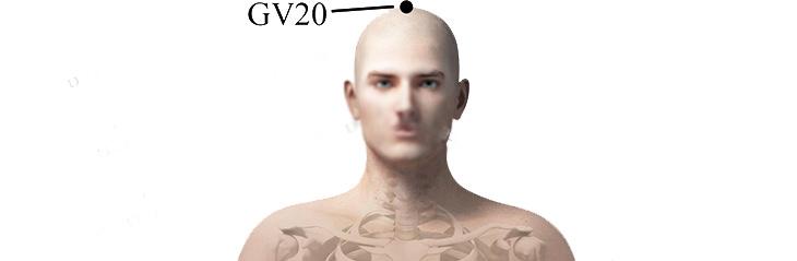 נקודות לחיצה לטיפול בלב ובזרימת הדם: GV20