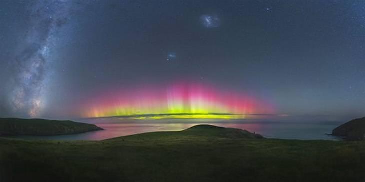 תחרות צלם השנה בתחום האסטרונומיה: הזוהר הצפוני ליד ניו זילנד