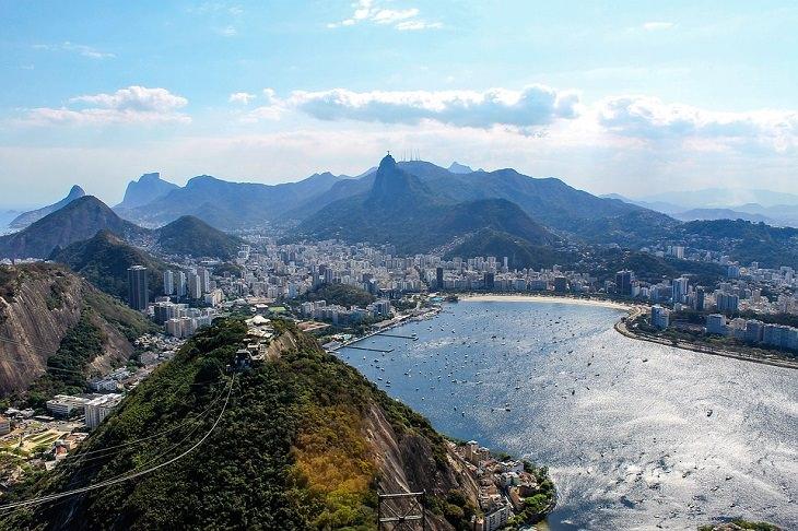 אתרים בריו דה ז'נרו: העיר ריו מצולמת מהר הסוכר