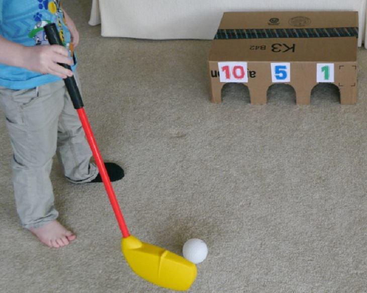 6 משחקים כיפים: ילד משחק גולף