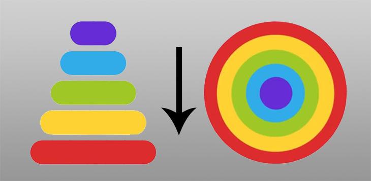 חידות: פיתרון חידת הפירמידה בצבעים