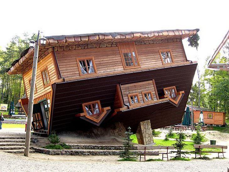 15 מבנים מרשימים מהעולם: הבית ההפוך - שימבארק פולין