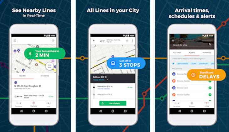 אפליקציות טיולים מומלצות: צילומי מסך של אפליקציית Moovit