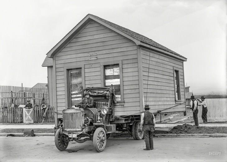תמונות היסטוריות: העברת דירה בסן פרנסיסקו, שנת 1919.