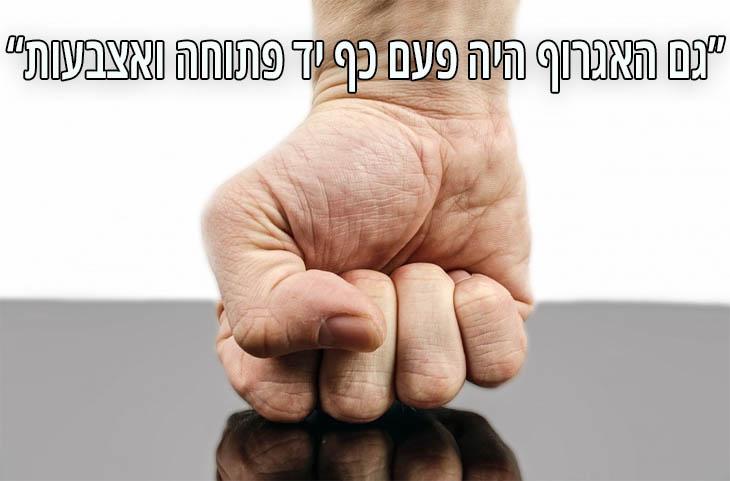 """ציטוטים של המשורר יהודה עמיחי: """"גם האגרוף היה פעם כף יד פתוחה ואצבעות."""""""