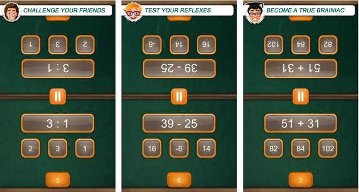 משחקים לסמארטפון ל-2 שחקנים: Math Duel