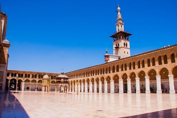 תמונות מסוריה: המסגד האומיי שבדמשק - אחד המסגדים העתיקים ביותר והרביעי בחשיבותו בעולם המוסלמי.