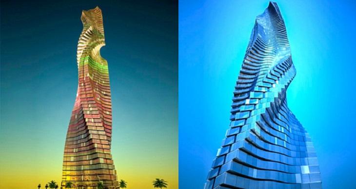גורדי שחקים מרחבי העולם: המגדל הדינאמי דובאי - הדמייה