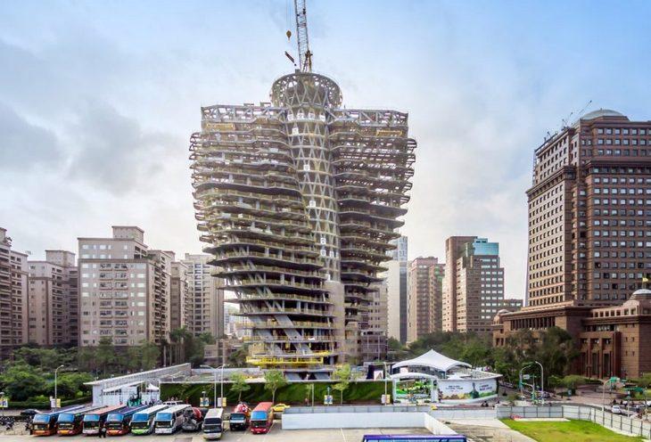 גורדי שחקים מרחבי העולם: מגדל אגורה טייפיי טייוואן בבנייה