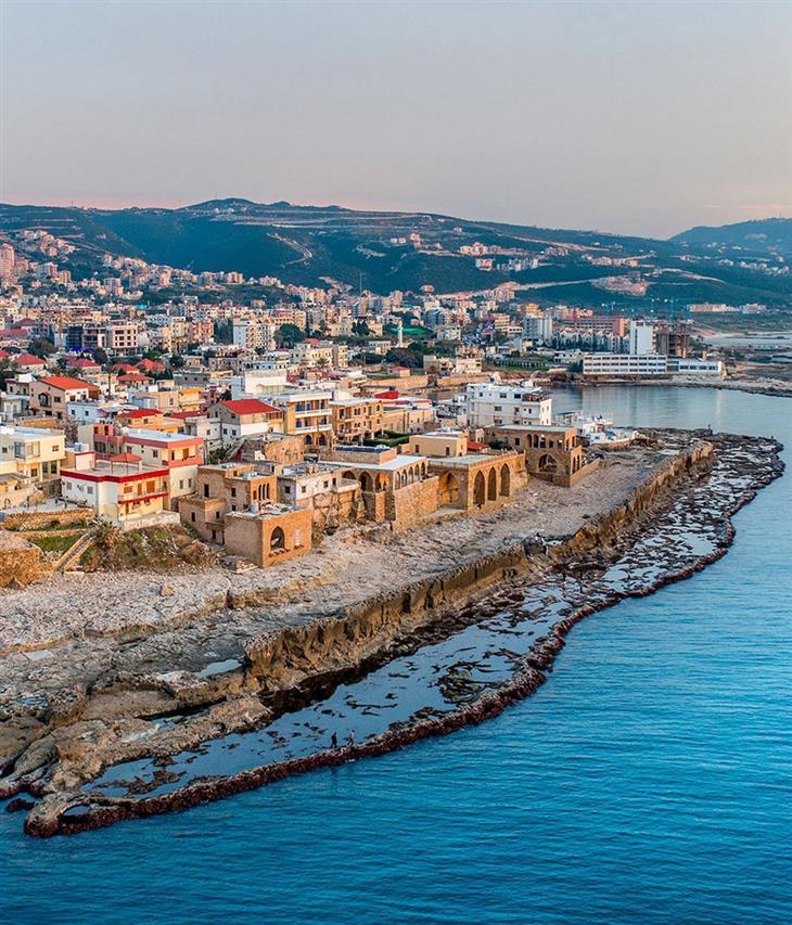 סדרת תמונות של לבנון: העיר העתיקה בבתרון, מחוז צפון לבנון
